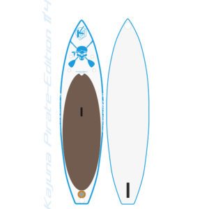 "Kajuna Pirate-Edition 11'4"" Touring inflatable SUP Board"